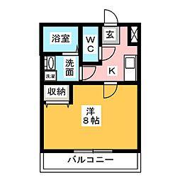 クレフラスト浜松駅南[2階]の間取り