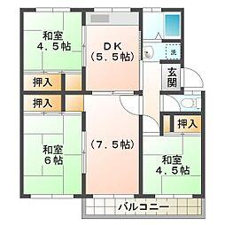 兵庫県神戸市須磨区高倉台1丁目の賃貸マンションの間取り