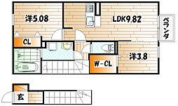 サンレトロ[2階]の外観