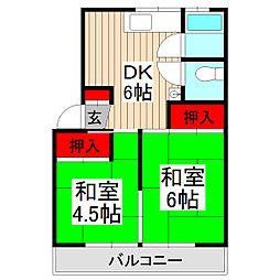 カーサムサシノ[202号室]の間取り