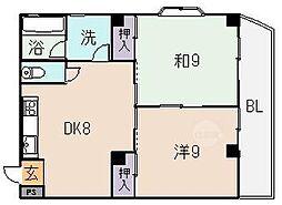 アレックスマンション[3階]の間取り