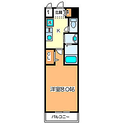 パレス大阪[7階]の間取り