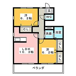 ウィステリアI[1階]の間取り