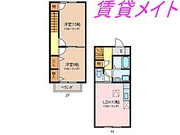 [テラスハウス] 三重県伊勢市通町 の賃貸【/】の間取り