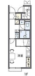西武拝島線 武蔵砂川駅 徒歩10分の賃貸アパート 1階1Kの間取り