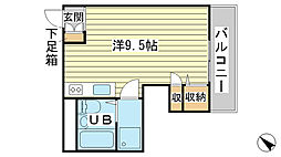 ハイツ日山[2-3号室]の間取り