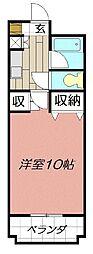 シティルーム中井Ⅲ[1階]の間取り