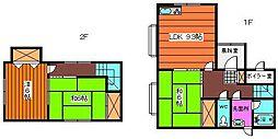 [一戸建] 秋田県横手市台所町 の賃貸【/】の間取り