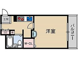 ダイユウレストハウス茨木B棟[3階]の間取り