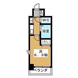 プレサンス京都烏丸御池II[7階]の間取り
