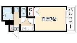 愛知県名古屋市昭和区檀渓通1丁目の賃貸マンションの間取り