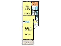 アドバンテイジ山田[1階]の間取り