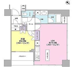 東京都港区高輪3丁目の賃貸マンションの間取り