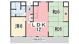ナビオ姫路[4階]の間取り