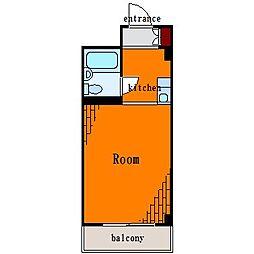 タマルコーポ平野[3階]の間取り