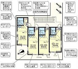 ユナイト 鶴見ラベンダー[1階]の間取り