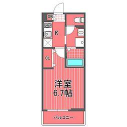 神奈川県横浜市中区山下町の賃貸アパートの間取り