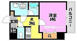 uro北巽[8階]の間取り