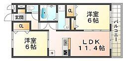 LaLa FUKUDA[3階]の間取り