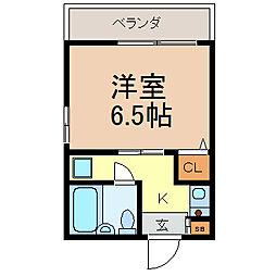 ジョイフル鶴舞[703号室]の間取り