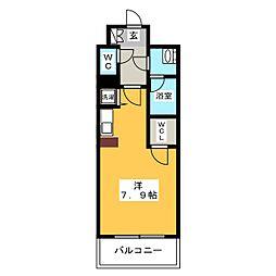 アソシアグロッツォ・クアトロ博多[9階]の間取り