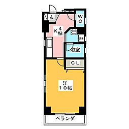 サンハイム東山[2階]の間取り