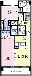 岡山県岡山市北区中仙道2丁目の賃貸マンションの間取り