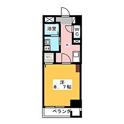 カスタリア新栄2[3階]の間取り