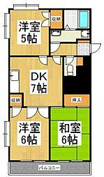 セジュール・ド・ミワ弐番館[4階]の間取り
