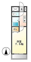 メゾンドMOE[2階]の間取り
