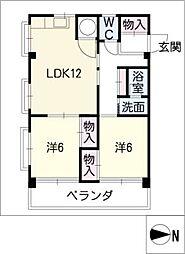 シャトー高蔵[2階]の間取り