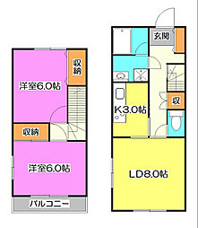 [テラスハウス] 埼玉県所沢市大字上安松 の賃貸【/】の間取り