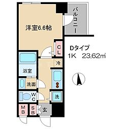アドバンス大阪城グラシア[7階]の間取り