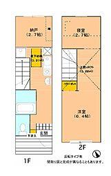 [テラスハウス] 愛知県名古屋市緑区桶狭間神明 の賃貸【/】の間取り