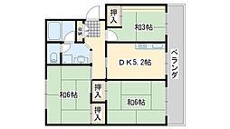 佐野湊団地2号棟[404号室]の間取り