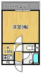 グレースビュー壱番館[2階]の間取り