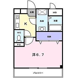 オーキッドコート[4階]の間取り