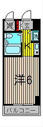 モナークマンション西川口[7階]の間取り