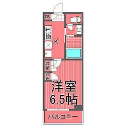 エルニシア横浜蒔田[7階]の間取り