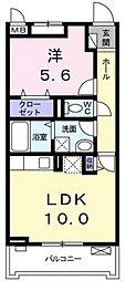 サニーレジデンス稲田本町[2階]の間取り