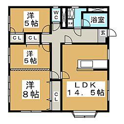 南光台レントハウス[2階]の間取り