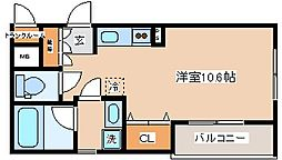 兵庫県神戸市長田区梅ケ香町1の賃貸アパートの間取り