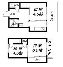 [テラスハウス] 滋賀県近江八幡市中村町 の賃貸【/】の間取り