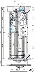 JR埼京線 板橋駅 徒歩3分の賃貸マンション 2階1Kの間取り