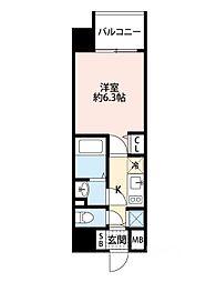 アドバンス大阪ドーム前アヴェニール[807号室]の間取り