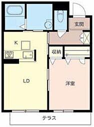 ソラーナ堺東[1階]の間取り