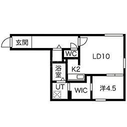 ブルーイング二十四軒[4階]の間取り