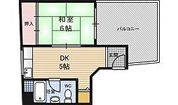 マサノビル[4階]の間取り