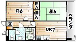 ライオンズマンション皇后崎公園[309号室]の間取り