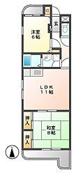 ハイムリーラ[4階]の間取り